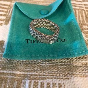 Tiffany & Co. Jewelry - Tiffany & Co Silver Mesh Ring Size 9.5